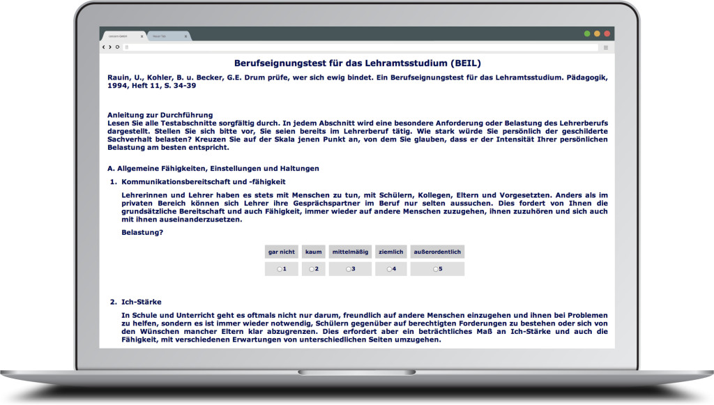 UdS - Screen - Berufseignungstest für das Lehramtsstudium